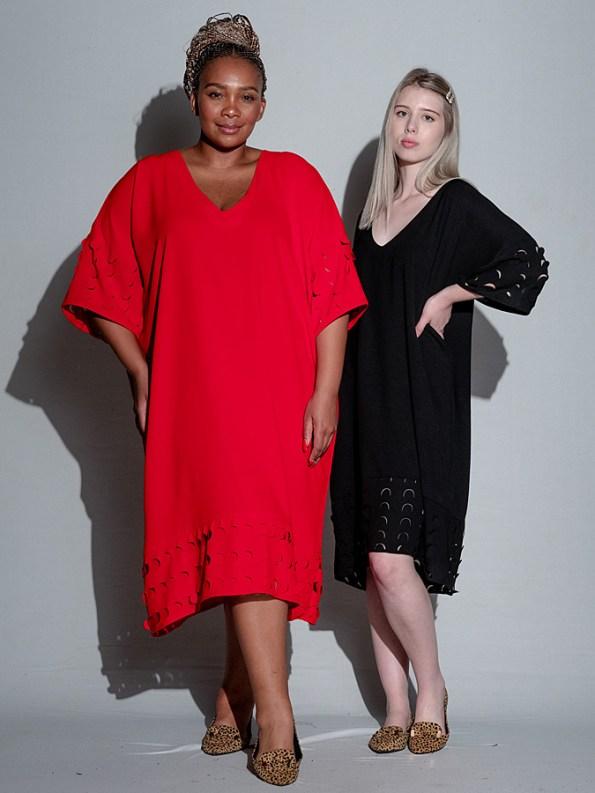 Isabel de Villiers Laser Cut Trim Dress Both