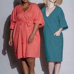 Isabel de Villiers Tunic Dress Teal Linen