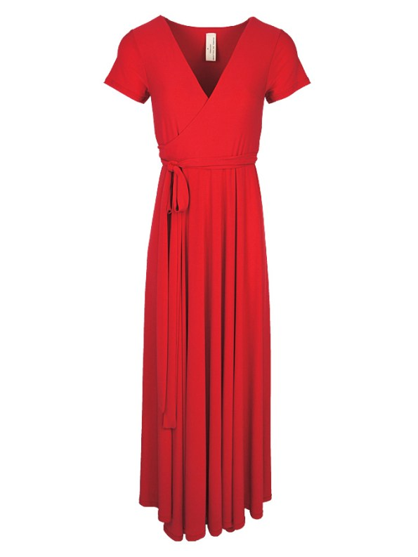 Isabel de Villiers Maxi Wrap Dress Red