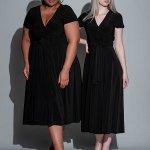 Isabel de Villiers Midi Wrap Dress Black