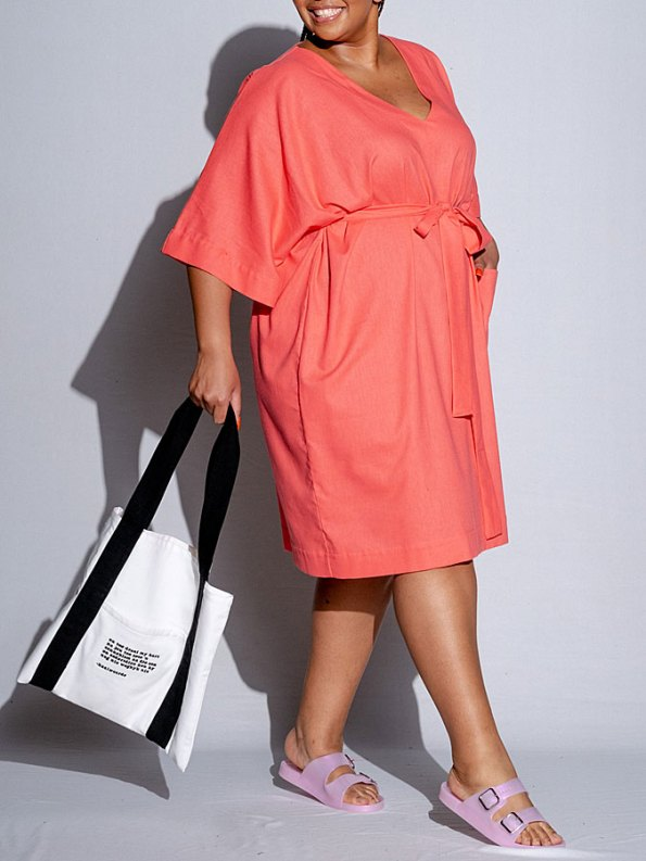Isabel de Villiers Tunic Dress Coral Side