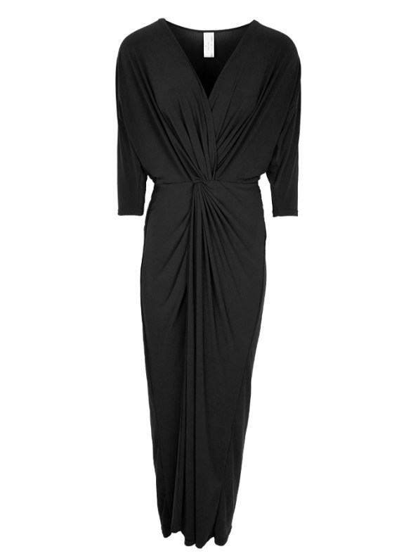 Isabel de Villiers Twist Maxi Dress Black