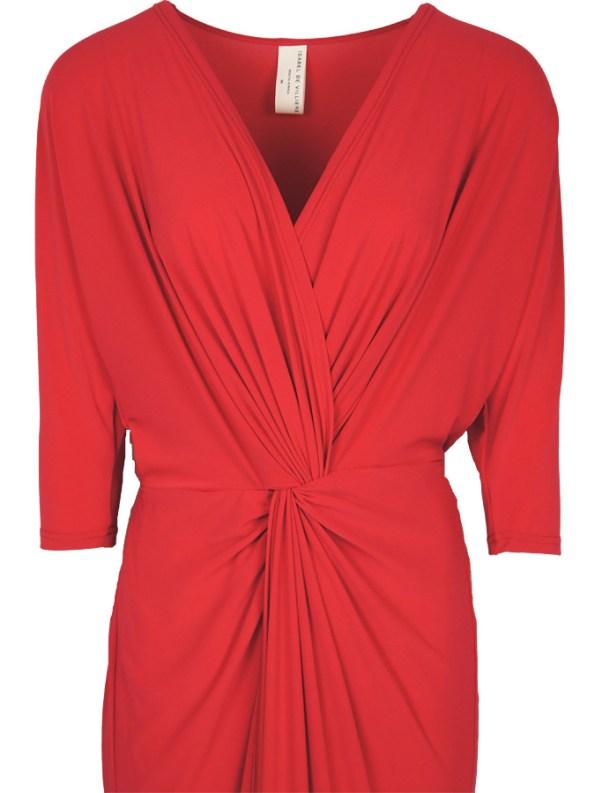 Isabel de Villiers Twist Maxi Dress Red Botice