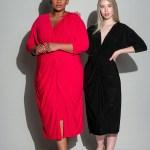 Isabel de Villiers Twist Midi Dress Black