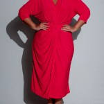 Isabel de Villiers Twist Midi Dress Red