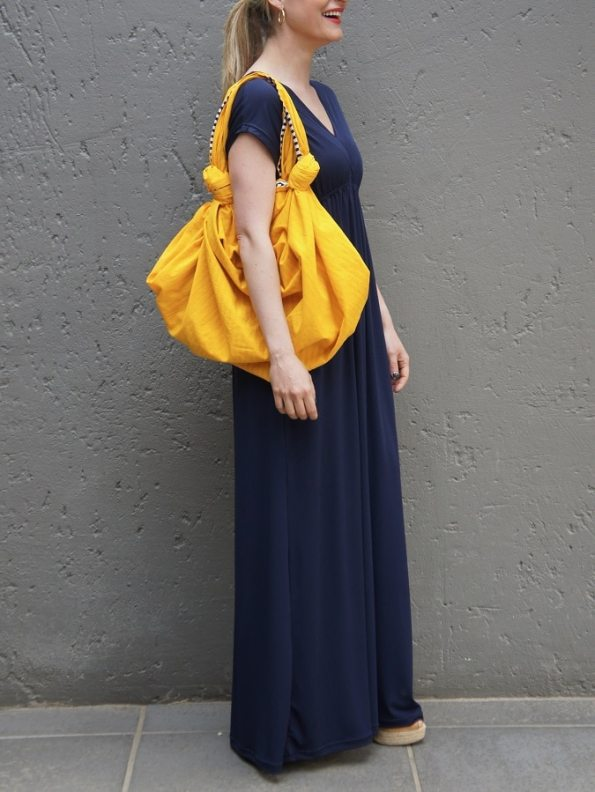 JMVB Furoshiki Bag Yellow with Rain Dress