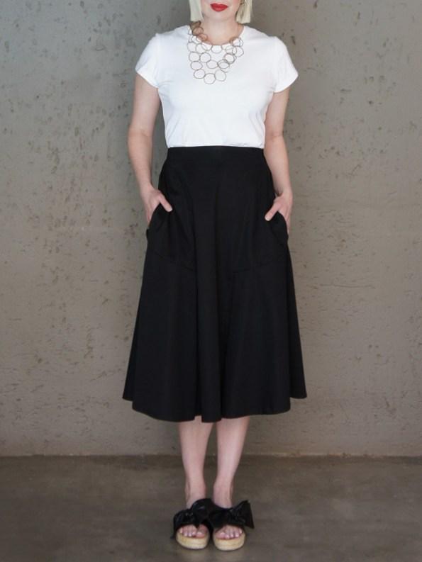 JMVB Joplin Skirt with White Jimmy D T-shirt
