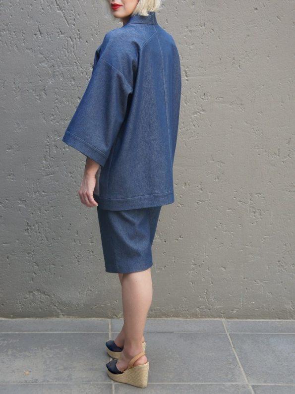 JMVB Kimono Denim Jacket Back