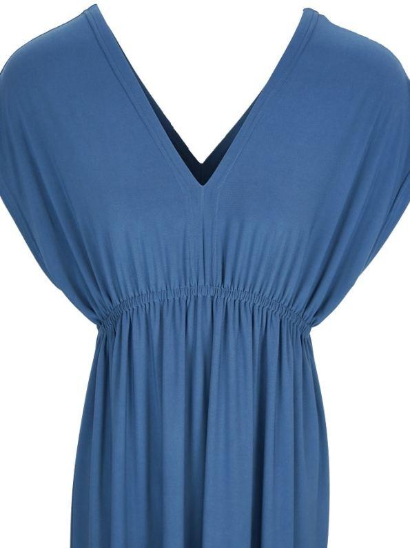 JMVB Rain Maxi Dress Peacock Blue Cropped