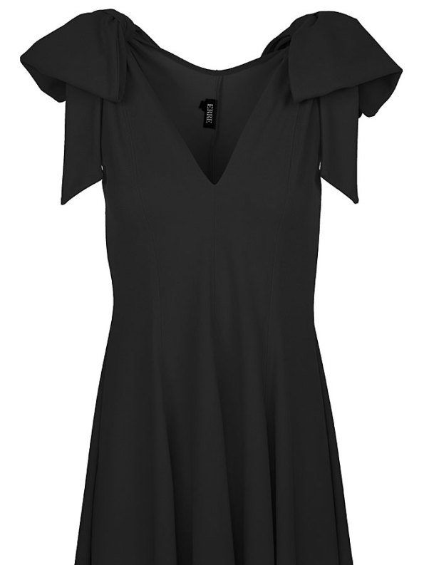 Erre Bow Fit & Flare Dress Black Bodice