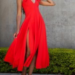 Erre Bow Fit & Flare Dress, Fire