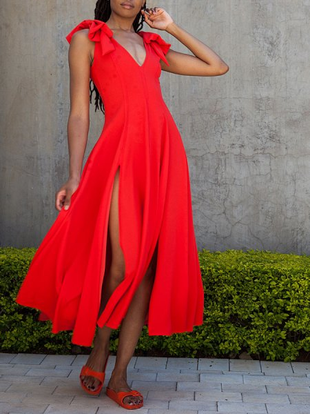 Red dress with slits South Africa