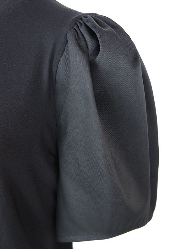 Erre Silhouette T-shirt Black Sleeve Detail