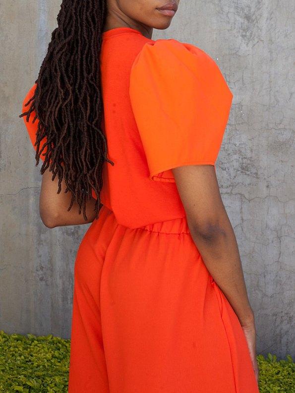 Erre Silhouette T-shirt Orange Black