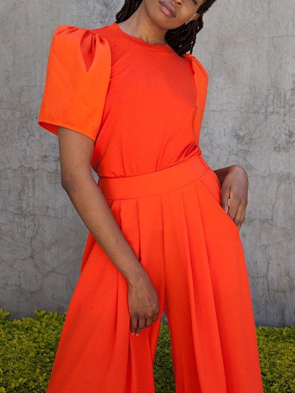 Erre Silhouette T-shirt Orange Front