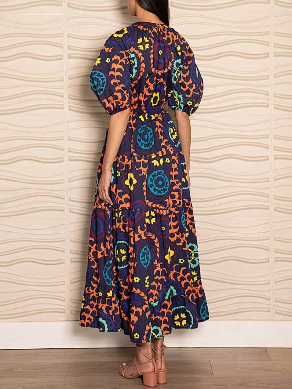 Smudj Chasing Aimee Cotton Maxi Dress Back