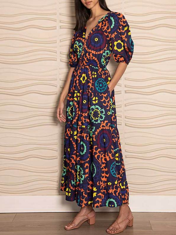Smudj Chasing Aimee Cotton Maxi Dress Side