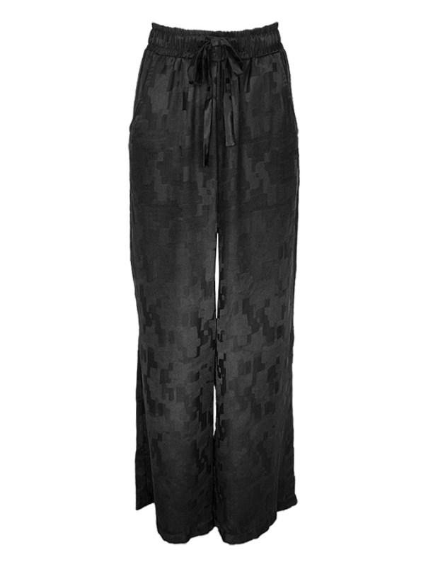 Smudj Silky Track Pants Camo Black