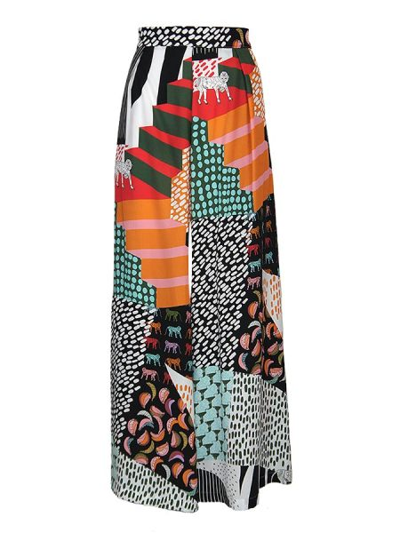 tencel print wide leg pants women South Africa