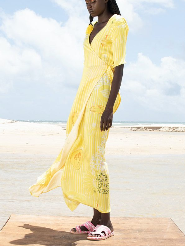 Asha Eleven Diani Wrap Dress Everything is Everyone Side