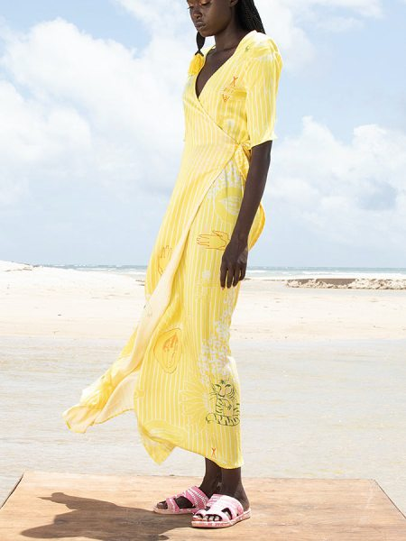 Yellow wrap dress South Africa