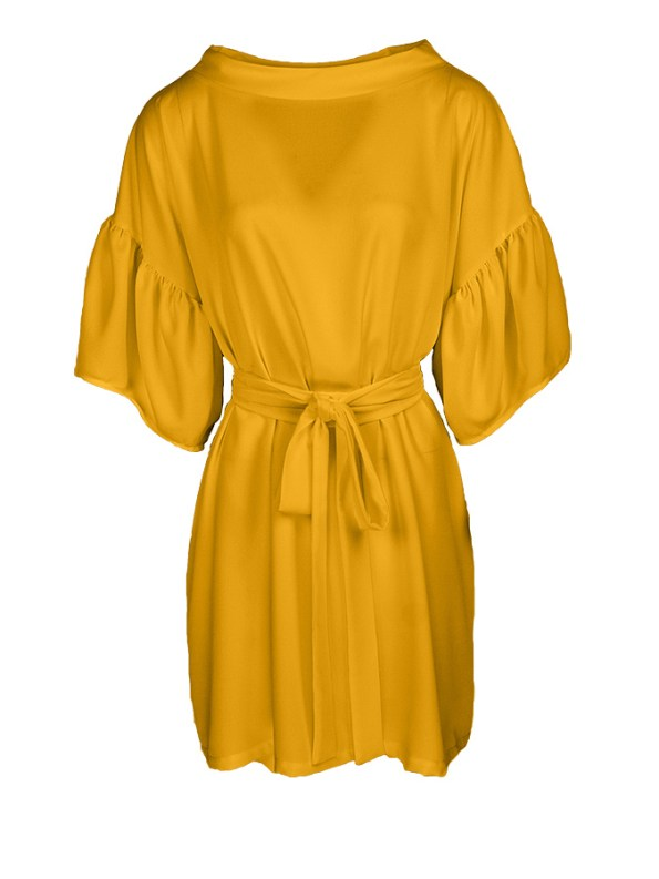 Erre Glide Easy-fit Dress Yellow