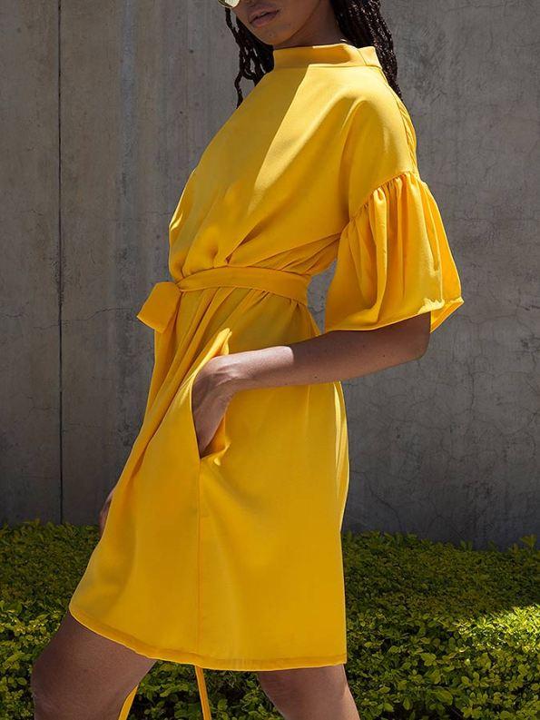 Erre Glide Easy-fit Dress Yellow Side