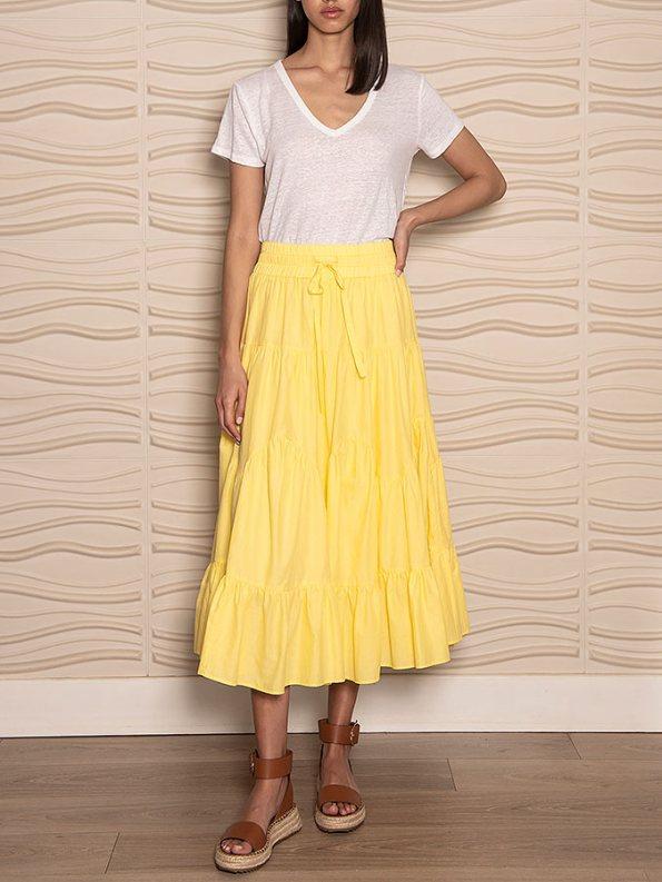 Smudj Ella Tiered Skirt Front
