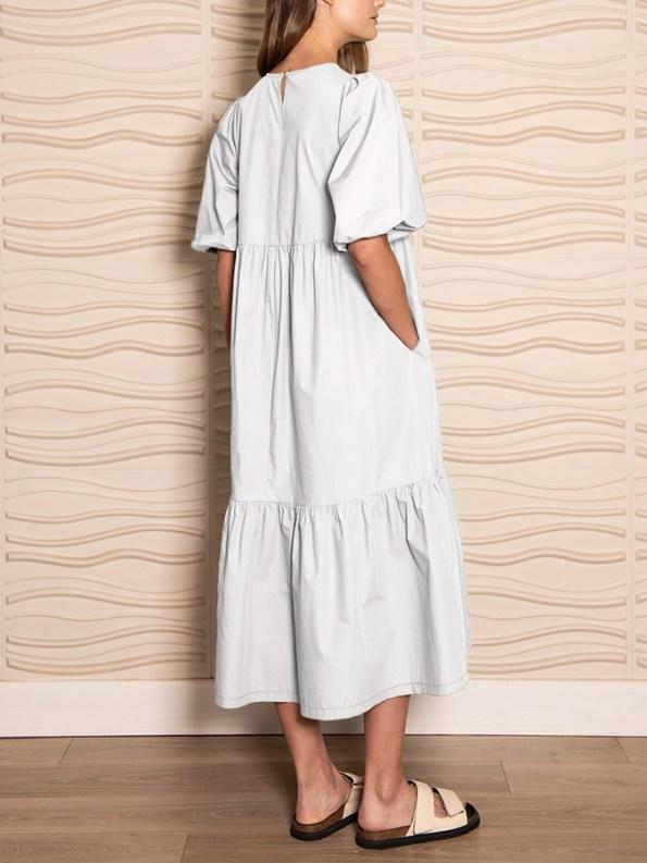 Smudj In 2 Minds Dress White Back