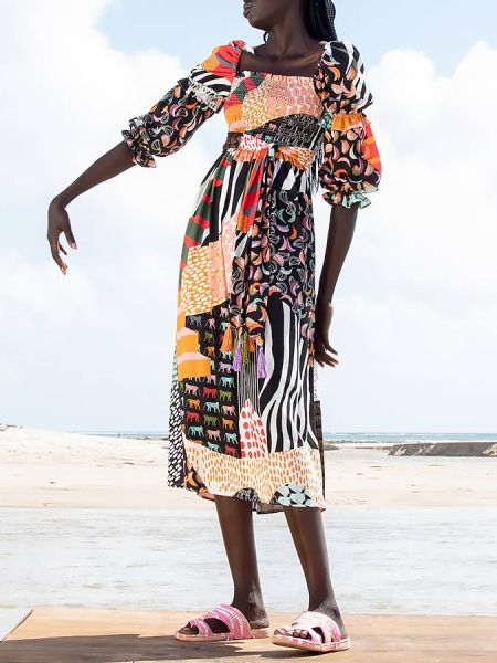 Tencel print dress midi length South Africa