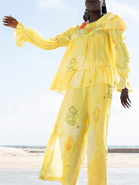 Oversized top yellow for women South Africa