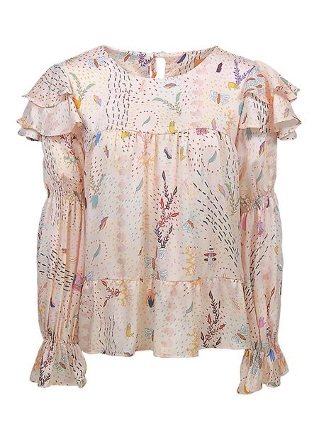Loose fit top pink print for women South Africa