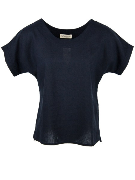 Navy linen T-shirt women South Africa