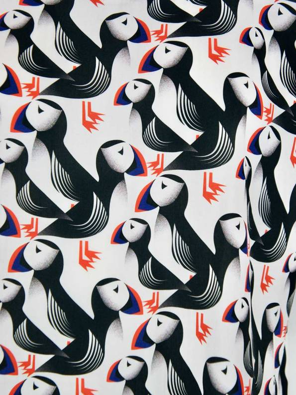 Good Marble Top Puffins Print_