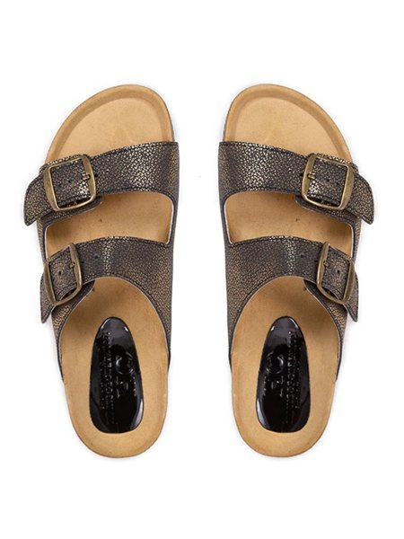 gold leather slides for women South Africa