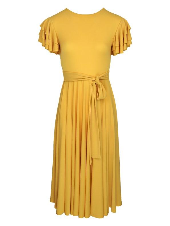 Erre Flutter Dress Yellow