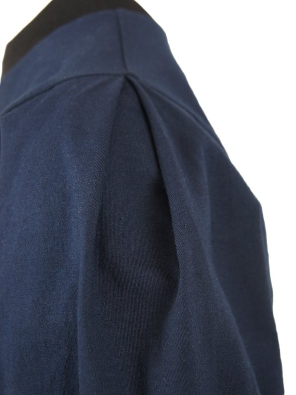 JMVB Athleisure Puff Sleeve Sweater Navy Shoulder