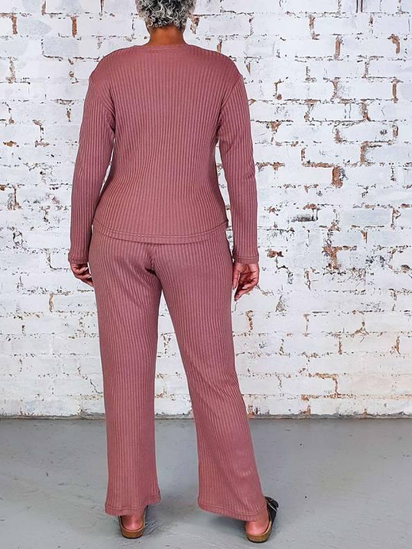 JMVB Lux Loungewear LS Top Back