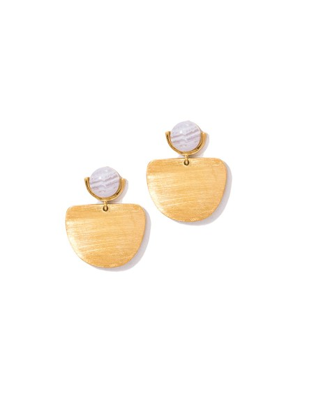 moonstone earrings with gold
