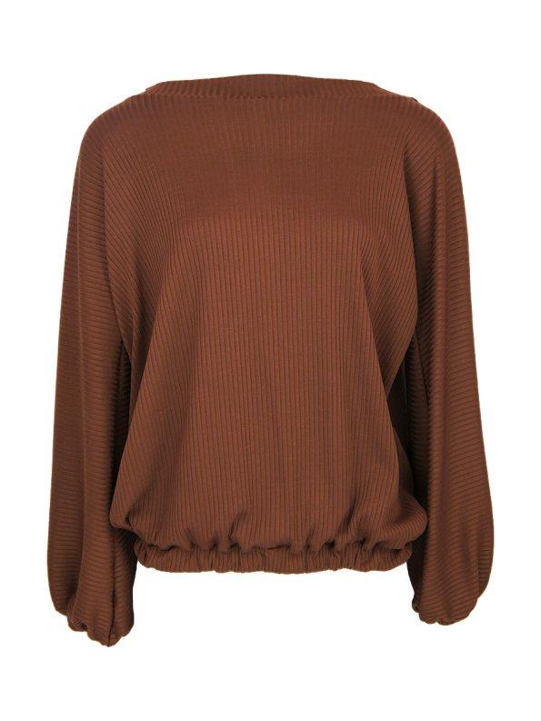 IDV Baloon Sleeve Knit Top Copper _SHPEN60_HUE+2_SAT-1_EXP0.5