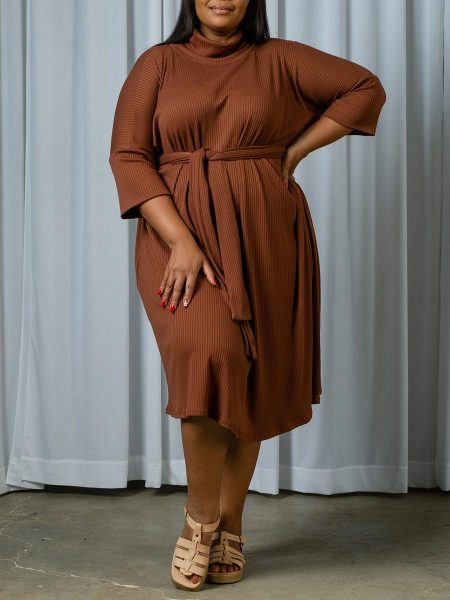 Plus size polo neck knitted dress South Africa