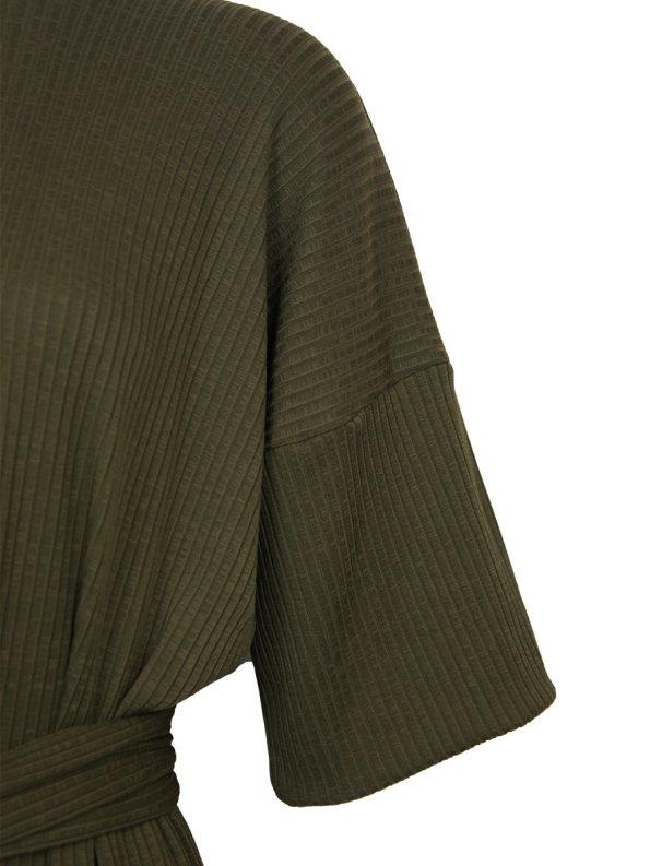 IDV Knit Polo Dress Olive Detail