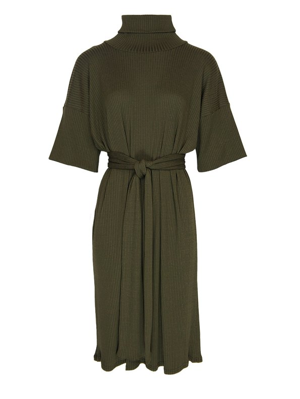 IDV Knit Polo Dress Olive Green