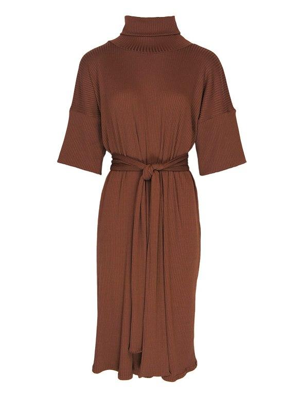 IDV Polo Knit Dress Copper