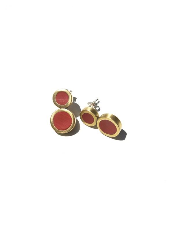 Iloni Eight Earring Red Flat
