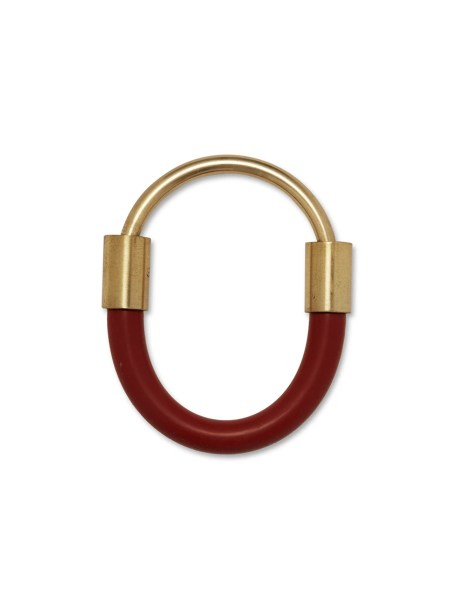 red bangle made from rubber and brass South Africa