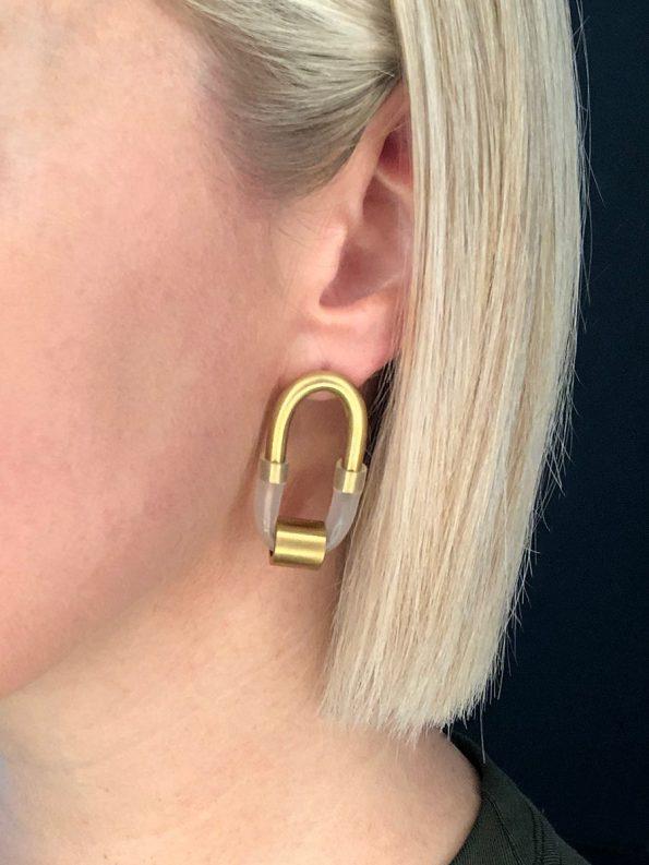 Iloni Original Long Pipe Earring on Model
