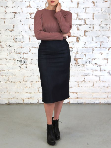 Straight cut pencil denim skirt South Africa