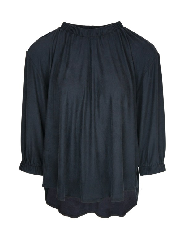 JMVB Faux Suede Top Charcoal
