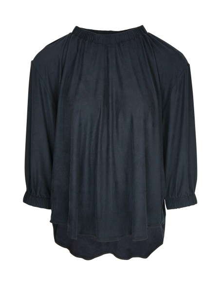 Charcoal faux suede top Women South Africa